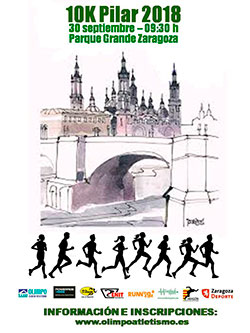 Cartel de la Carrera Popular Pilar 2018