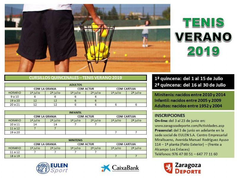 Tenis Verano 2019 - Pistas Municipales