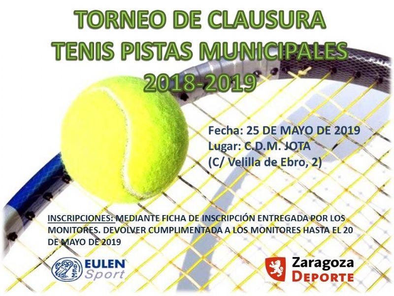 Tenis - Pistas Municipales 2018/2019
