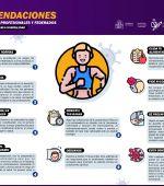 Décalogo de recomendaciones para deportistas profesionales y federados