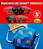 Mascarillas oficiales del Real Zaragoza y del Casademont Zaragoza