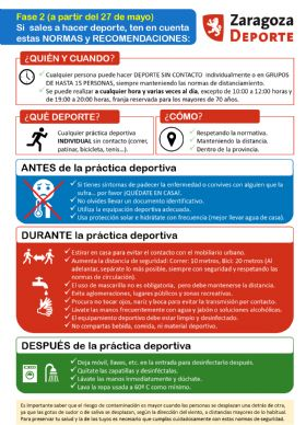 Normas y recomendaciones para hacer deporte al aire libre