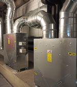 Instalación de recuperadores de calor en los vestuarios del Pabellón «Príncipe Felipe»