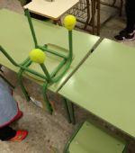 Las pelotas de tenis de los cursos municipales se reciclan una vez más