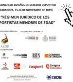 XV Congreso español de Derecho deportivo: Régimen jurídico de los deportistas menores de edad