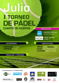 I Torneo de Pádel Cuarte de Huerva - Zaragoza Deporte ...