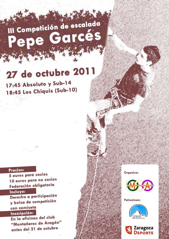 III Competición de Escalada «Pepe Garcés»