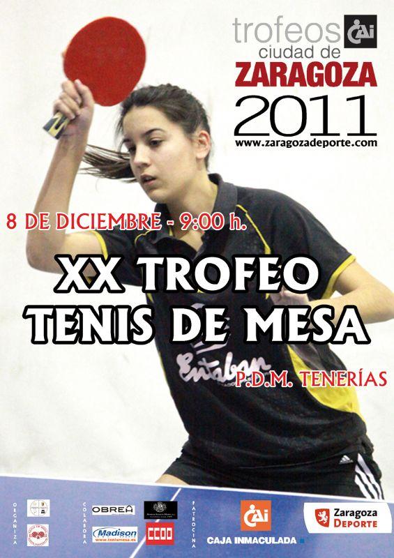 XX Trofeo «CAI-Ciudad de Zaragoza» de Tenis de Mesa