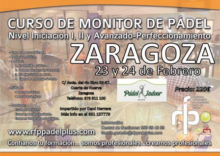 Curso de Monitor de Pádel | Eventos | Zaragoza Deporte