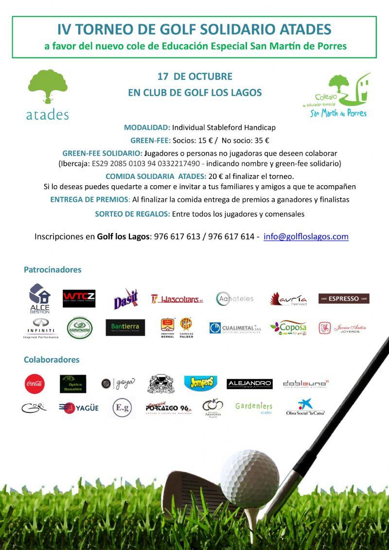 IV Torneo de Golf Solidario ATADES