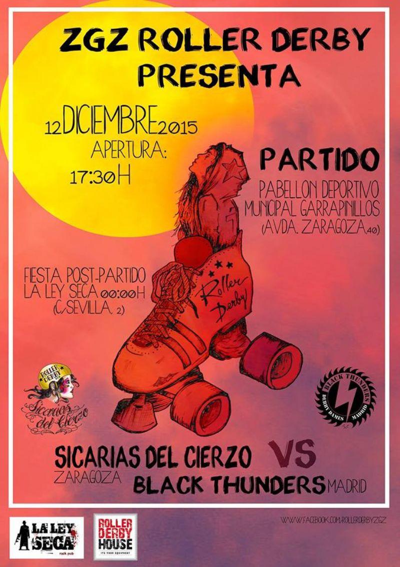 Roller Derby: Las Sicarias del Cierzo vs Blacks Thunders (Madrid)