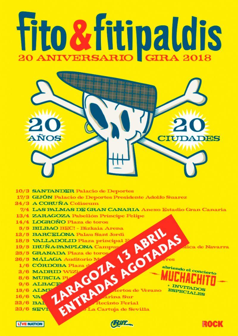 Concierto de Fito & Fitipaldis + Muchachito. Invitados especiales: Amaral