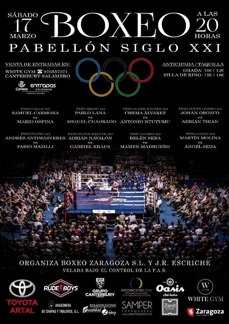 Velada de boxeo en el CDM Siglo XXI