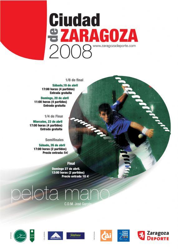 Trofeo Ciudad de Zaragoza de Pelota Mano. Del 19 al 26 de Abril