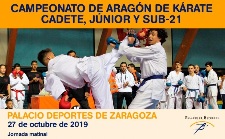 Campeonato de Aragón de Kárate Cadete, Júnior y Sub-21