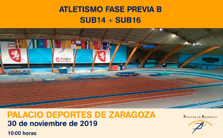 Atletismo. Fase Previa B SUB14 + SUB16
