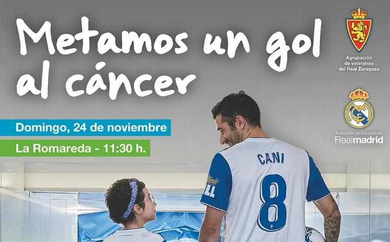 Partido benéfico ASPANOA: Veteranos Real Zaragoza - Exjugadores del Real Madrid