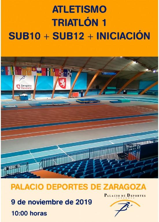 Atletismo. Triatlón 1 SUB10 + SUB12 + INICIACIÓN