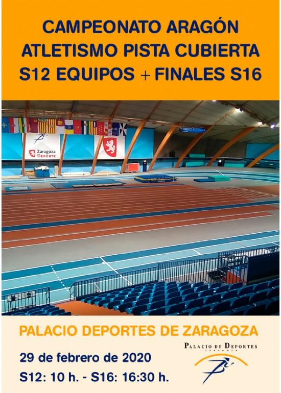 Campeonato de Aragón de Atletismo en Pista Cubierta - Sub12 Equipos + F.P. Iniciación JDEE+ Finales Sub16