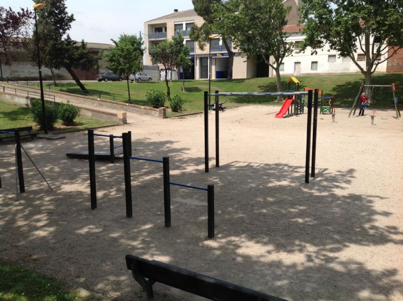Estación gimnasia IDE Parque Clemente Mateo