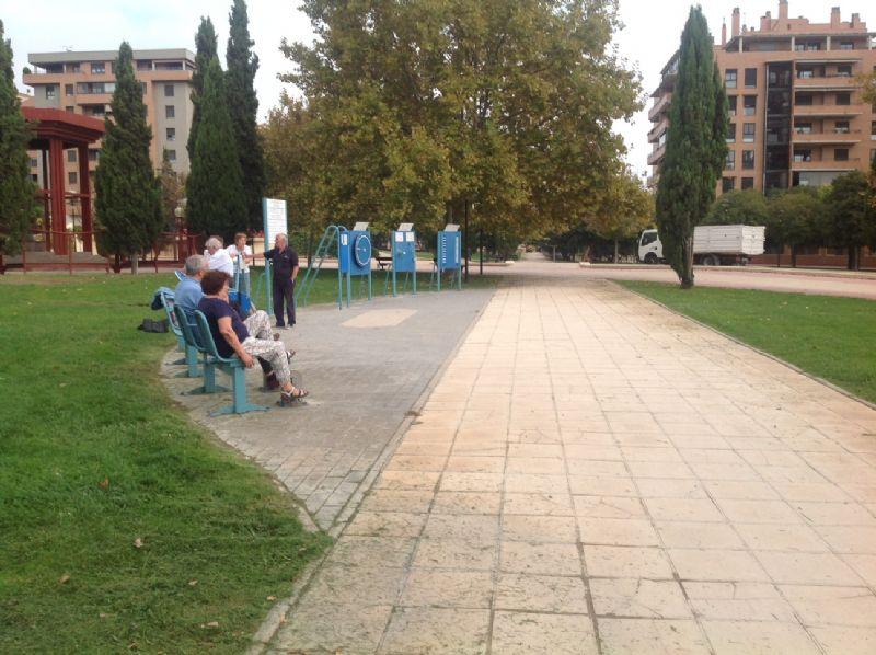 Estación gimnaisia senior IDE Parque de la Sedetania