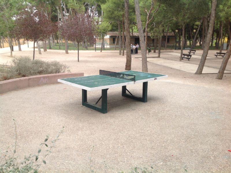Tenis de mesa antivandálica