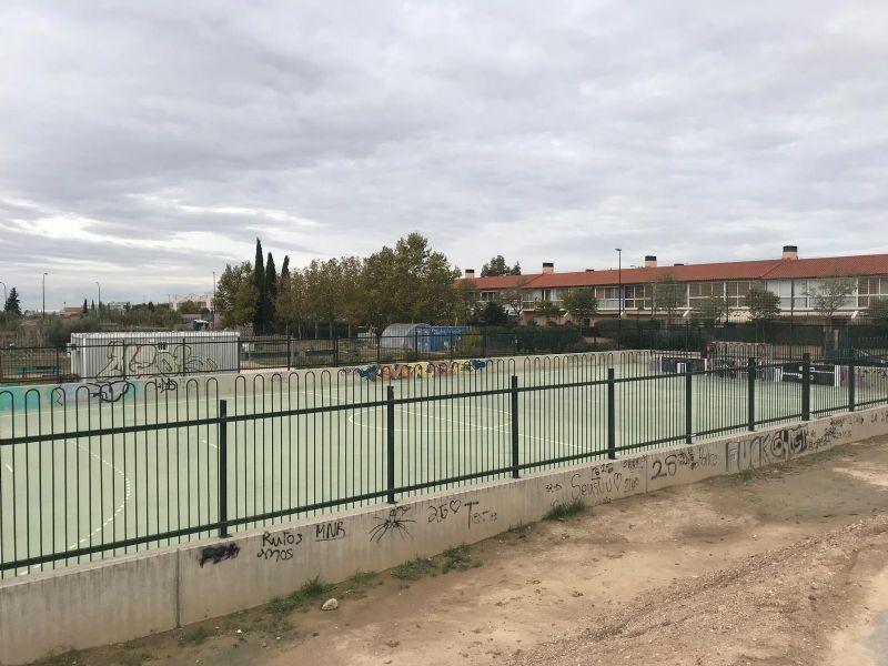 Campo completo con nuevas porterías anti vandálicas [Fecha: 08/11/2018]
