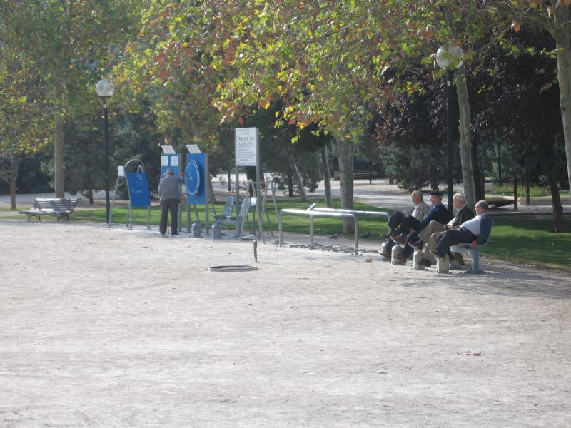 Estación gimnasia IDE Parque de la Aljafería