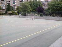Pintado del lineado en Pista de Fútbol Sala [Fecha: 11/06/2014]