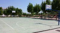 Pintado del lineado en Pista de Baloncesto [Fecha: 25/06/2014]