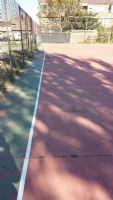 Pintado del lineado de la pista de Fútbol Sala, dentro del marco de actuaciones del Plan de Empleo Social. [Fecha: 30/11/2014]