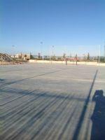 Pista de baloncesto situada al lado de la pista de Fútbol-Sala/balonmano [Fecha: 24/10/2017]
