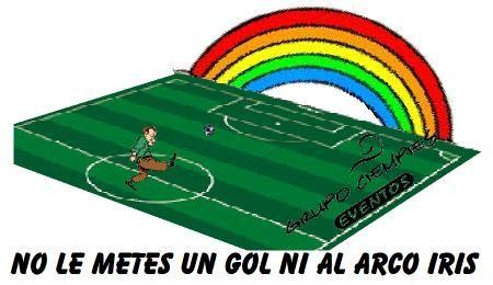 No le metes un gol ni al arco iris