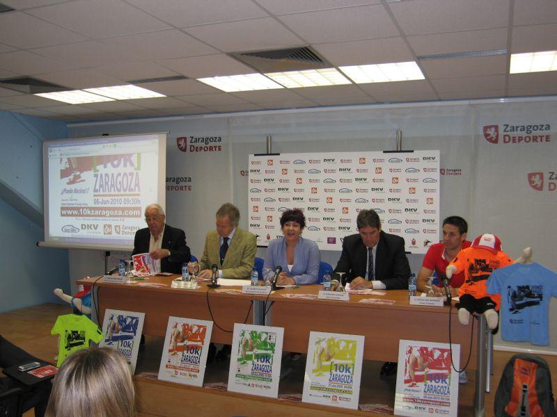 Presentación de la carrera solidaria '10k Zaragoza'