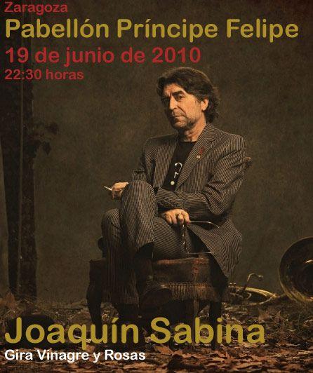 Joaquín sabina actuará el día 19 de junio en el Pabellón Príncipe Felipe