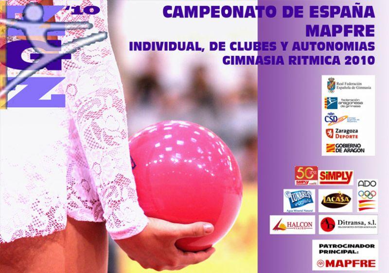 Zaragoza acoge el Campeonato de España de Gimnasia Rítmica Individual, por Clubes y por Autonomías