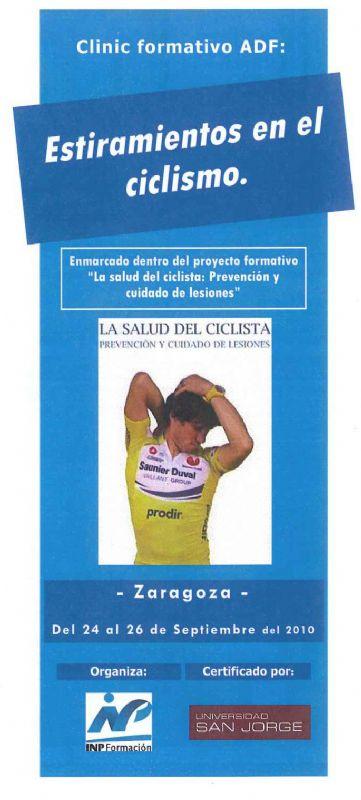 I Clinic ADF de 'Estiramientos en el ciclismo'