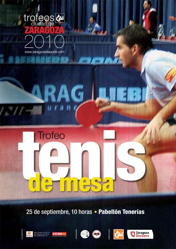 Marc Durán, favorito en el Trofeo 'CAI - Ciudad de Zaragoza' de Tenis de Mesa