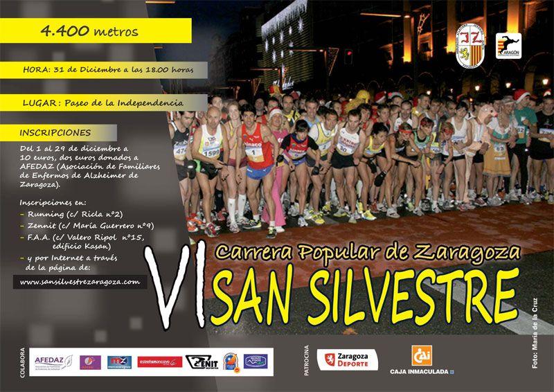 Presentada la San Silvestre de Zaragoza, que en su VI edición espera alcanzar los 2.300 corredores