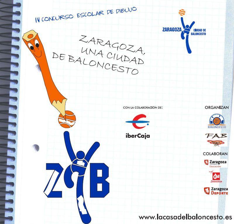 Hoy se entregan los premios del IV Concurso de Dibujo 'Zaragoza, una Ciudad de Baloncesto'