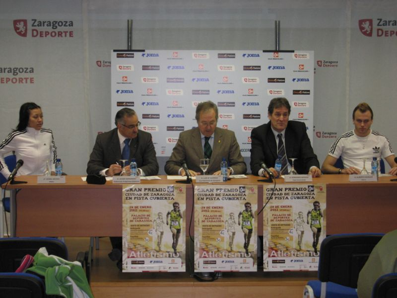Presentación del Gran Premio 'CAI - Ciudad de Zaragoza' de Atletismo en Pista Cubierta