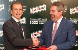 Cervezas San Miguel, primer patrocinador de Zaragoza Pirineos 2022