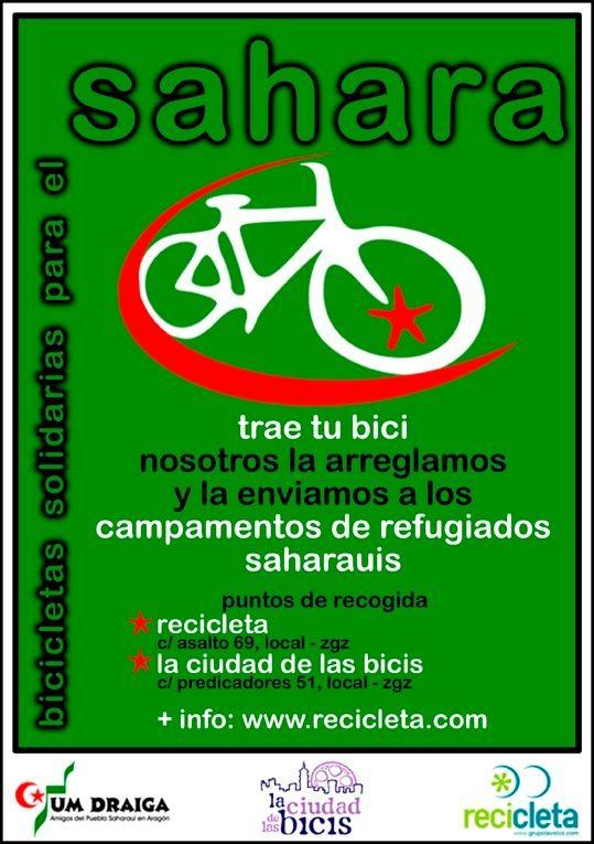 Bicicletas Solidarias para el Sahara. Si tienes una bici que no utilizas dale un uso solidario