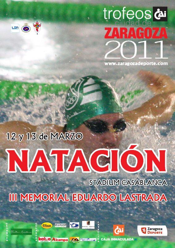 Natación: Resultados del «VI Trofeo CAI-Ciudad de Zaragoza, III Memorial Eduardo Lastrada»