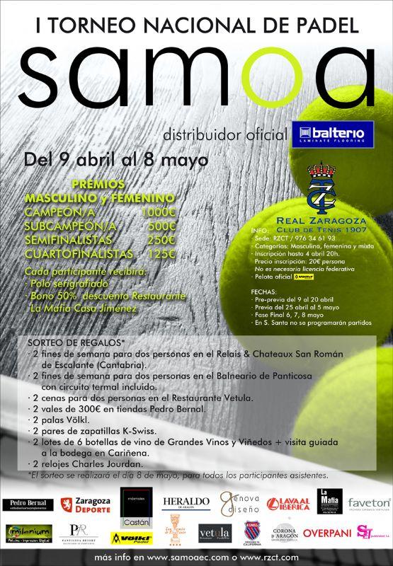I Torneo Nacional de Pádel SAMOA (masculino, femenino y mixto)