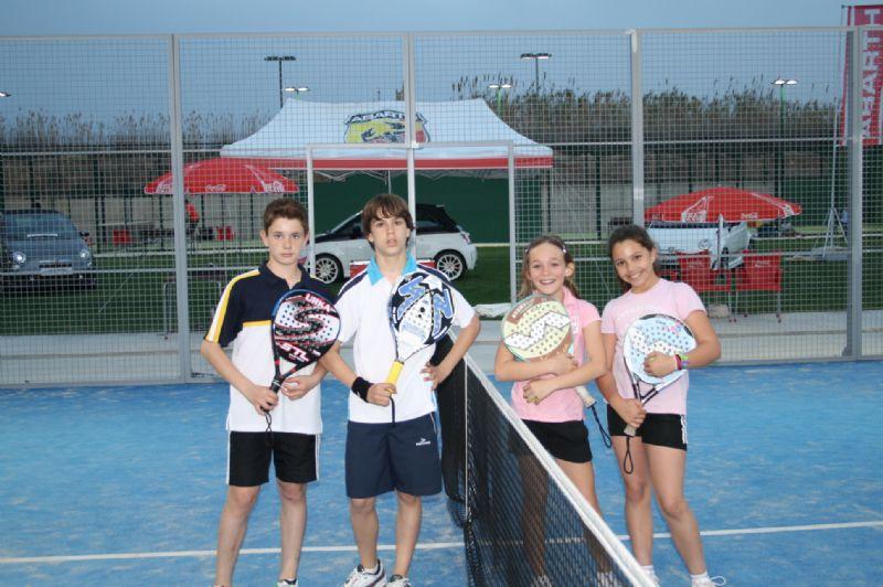 Rotundo éxito el torneo de pádel FRUTOLANDIA de Menores