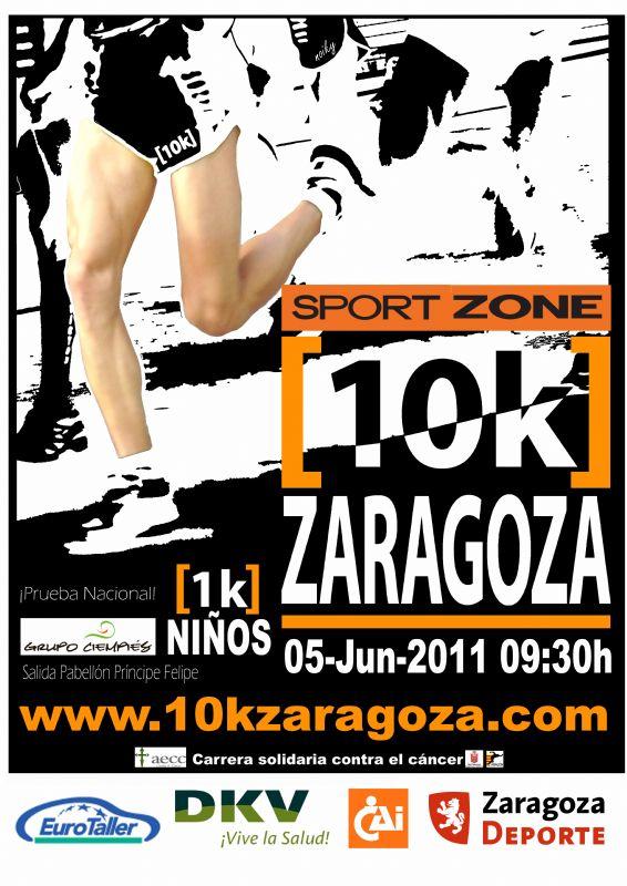 SPORT ZONE se convierte en patrocinador de la «Sport Zone 10k Zaragoza» que se disputará el 5 de junio de 2011.