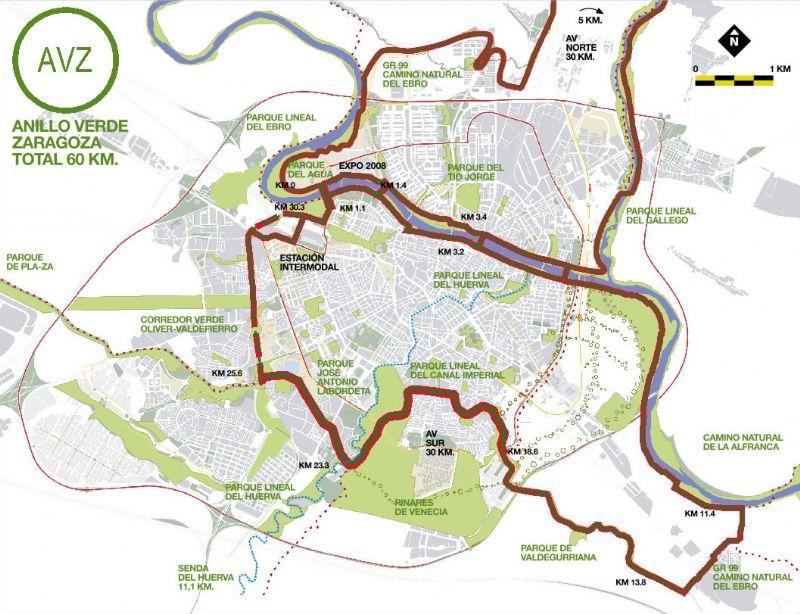 Anillo Verde de Zaragoza: Disfrútalo en bici, corriendo, andando o a caballo.
