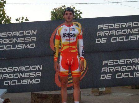 Miguel Bergua (CAI), campeón de Aragón élite de contrarreloj