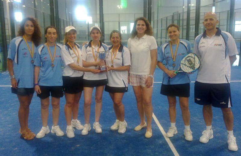 La Selección Aragonesa Femenina de Pádel Veteranos se proclama Subcampeona de España